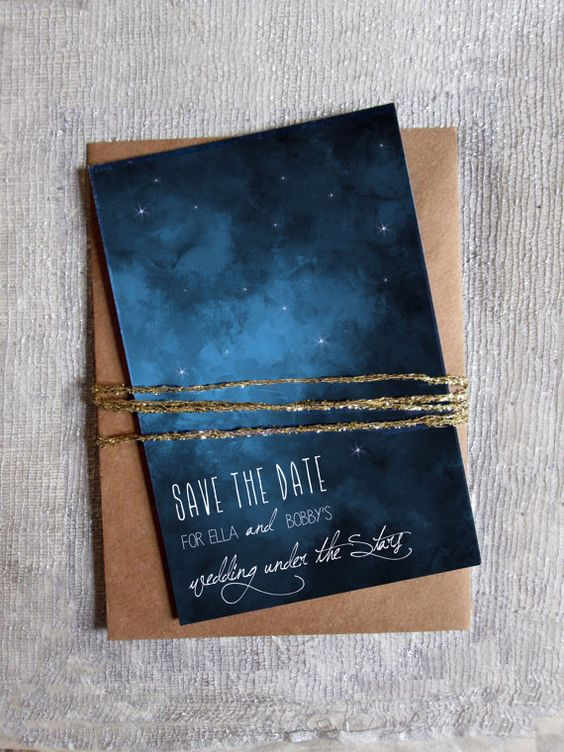 18 Romantic Starry Night Wedding Ideas You Can't Resist
