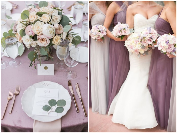 Chic and romanic mauve wedding color ideas for 2018 wedding junglespirit Image collections