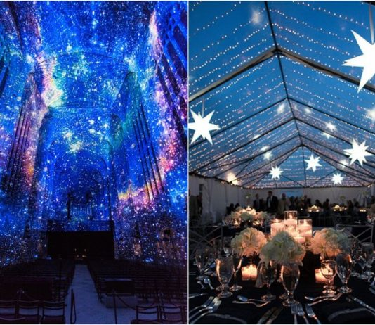 Wedding centerpieces mrs to be 18 romantic starry night wedding ideas you cant resist junglespirit Choice Image