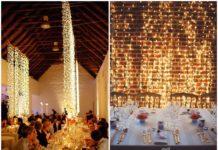 Waterfall String Light Wedding Decoration Ideas