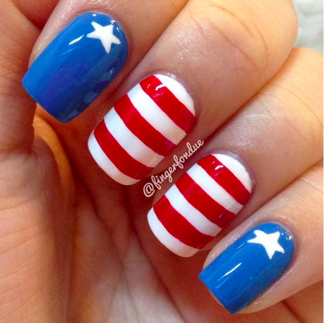 18 Fun and Stylish 4th of July Nail Art Design Ideas