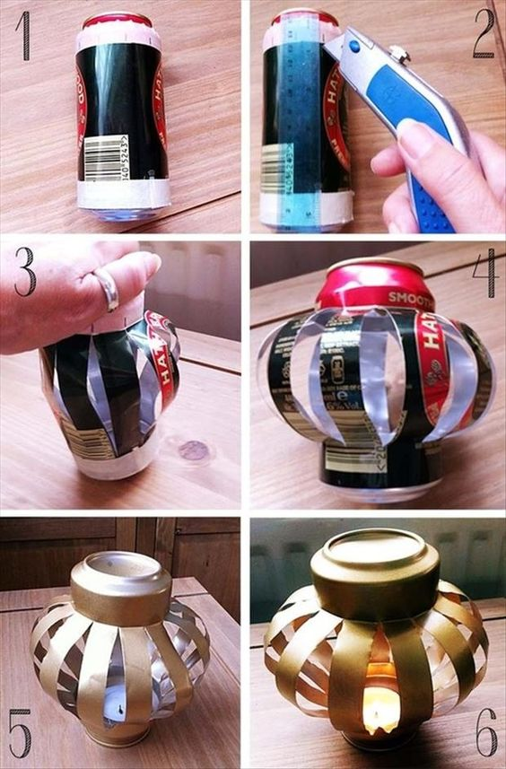 Super Cheap Wedding Ideas: The Can Lantern