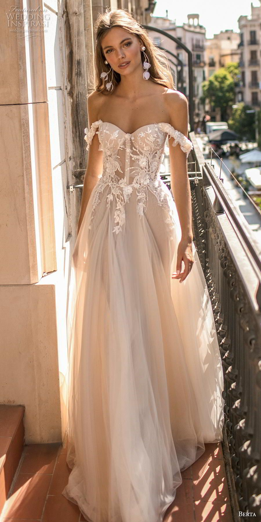 550a045fd92 Gorgeous Embellished Wedding Dresses. Image via  Weddinginspirasi. anna  campbell 2019 bridal half handkerchief sleeves v neck full embellishment  romantic ...
