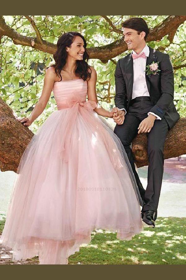 Pretty Pink Wedding Dresses