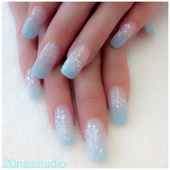 Ombre wedding nail