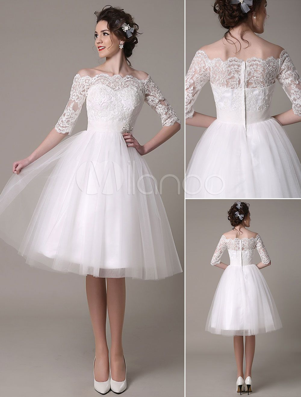20 Amazing Short And Knee Length Wedding Dresses Mrs To Be