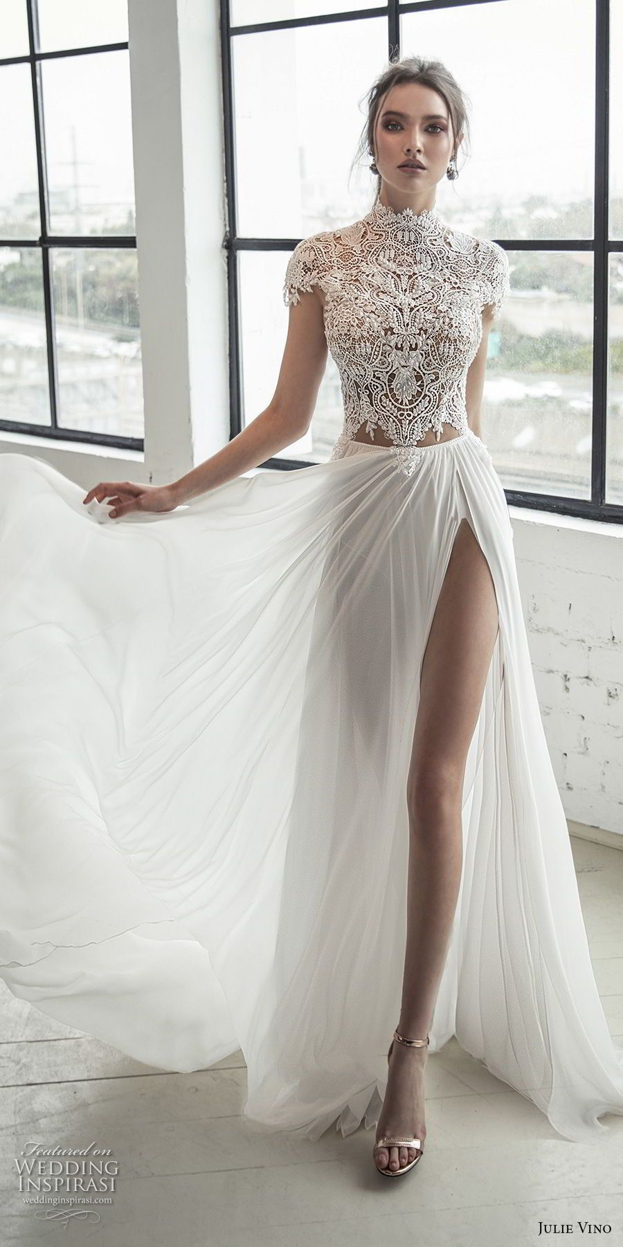 elegant high-neck wedding dresses