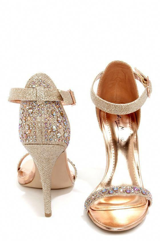 238f4c7a6d1c 35 Gorgeous Pairs of Rose Gold Wedding Shoes To Try | Mrs to Be