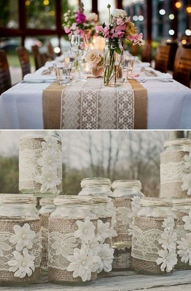 Rustic Burlap and Lace Wedding Theme Ideas