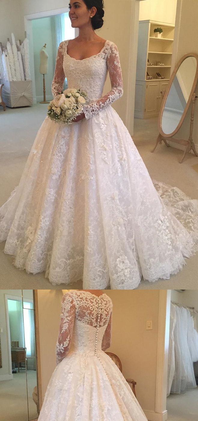 Tempting Wedding Dresses with Long Sleeves