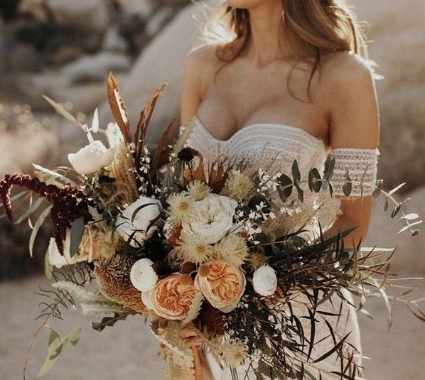 25 Boho Rustic Wedding Bouquets That Really Inspire