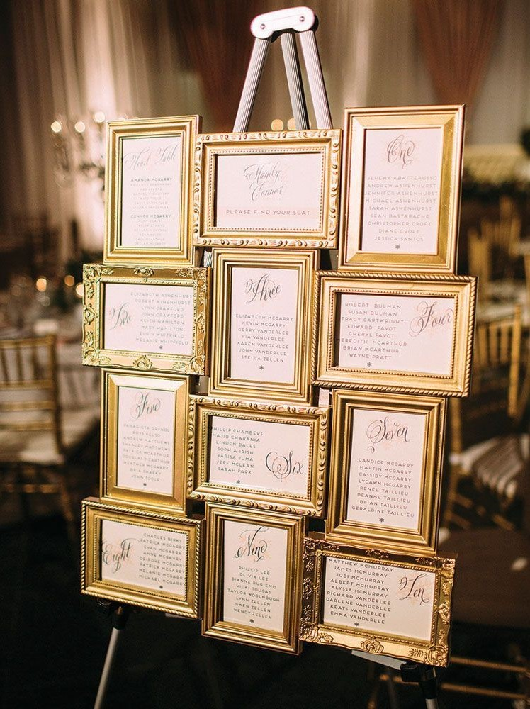 Luxury and Elegant Gold Wedding Decorations