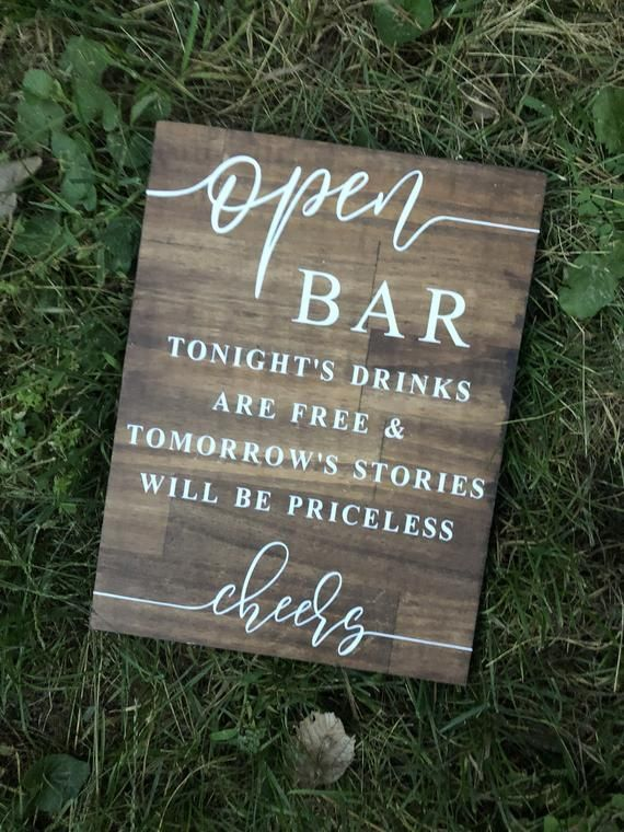 Fun and Creative Wedding Bar Ideas