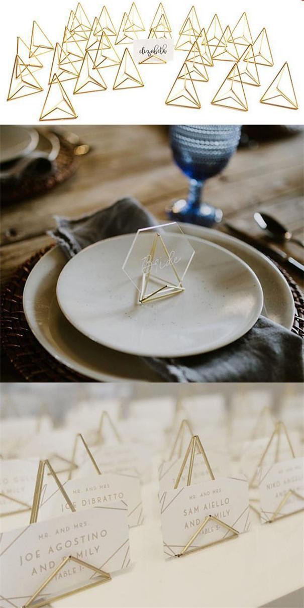 Luxury and Enchanting Geometric Wedding Decorations