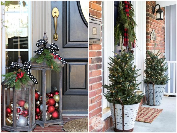 34 Christmas Door Decoration Ideas Mrs To Be