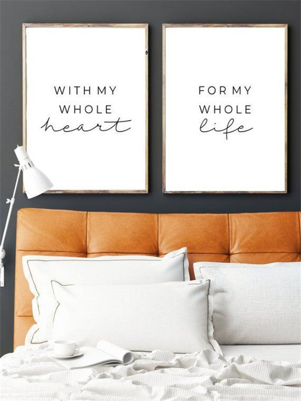 above the bed wall decor
