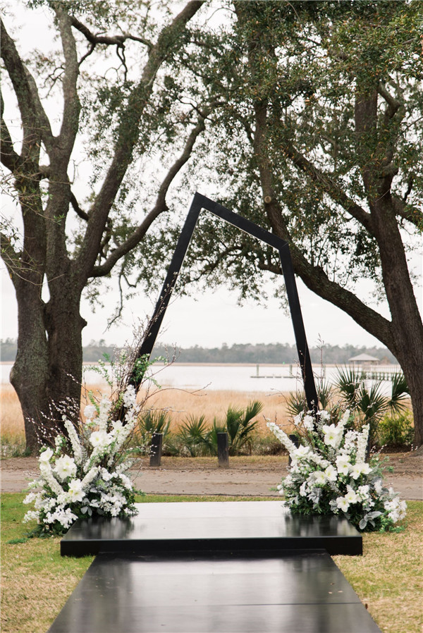 black white wedding ideas