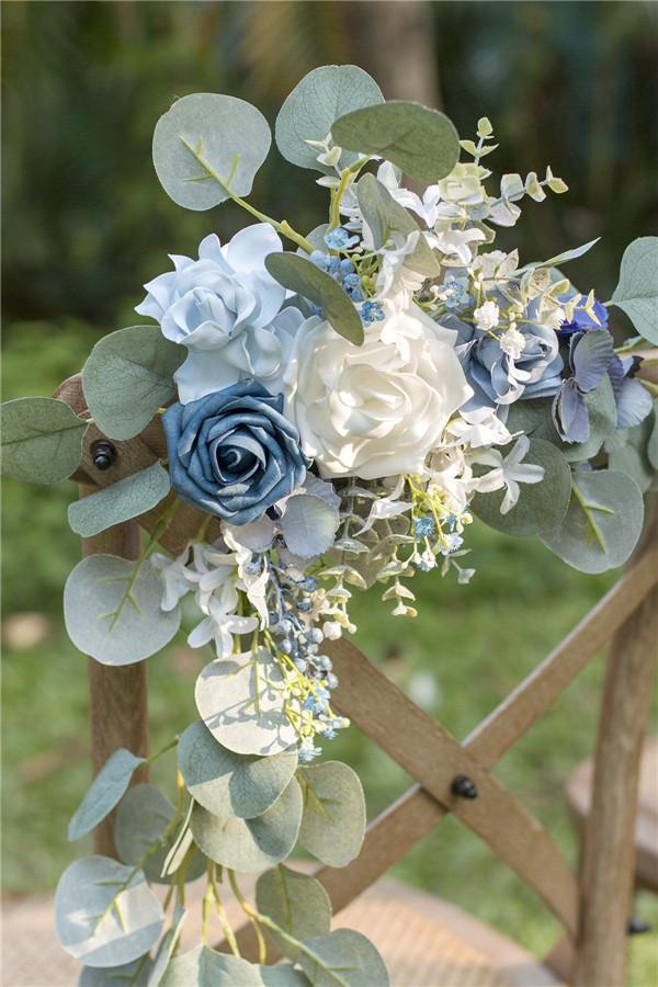 blue floral wedding inspiration
