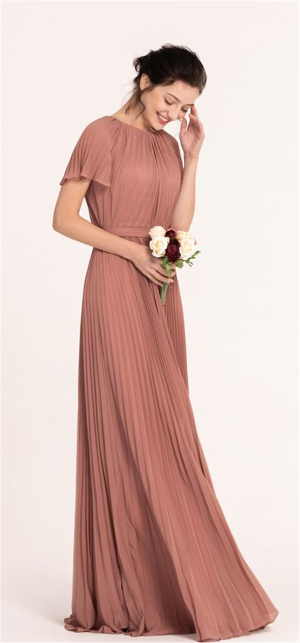 Beautiful Bridesmaid Dresses with Sleeves