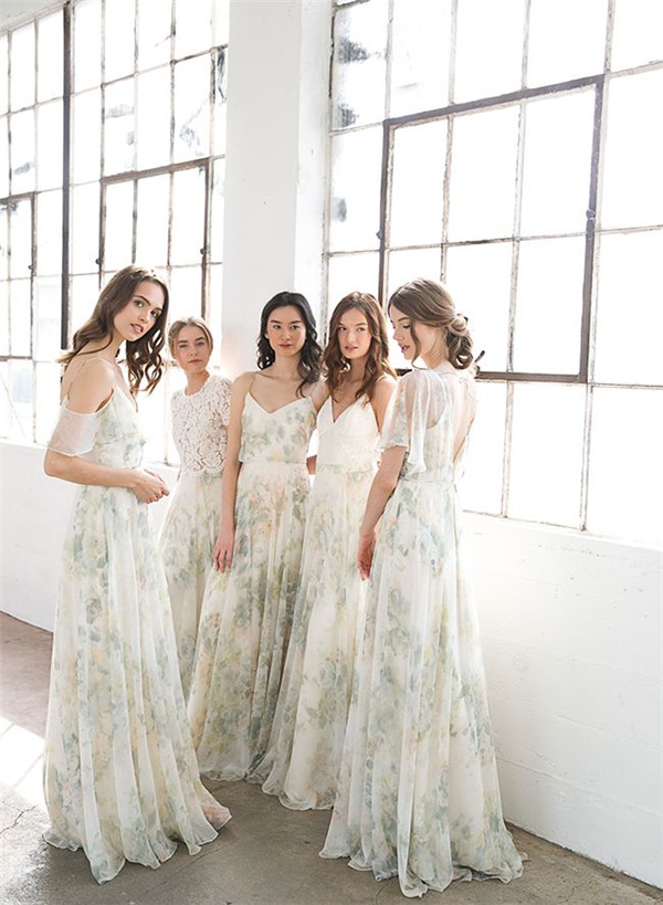 Beautiful floral bridesmaid dresses