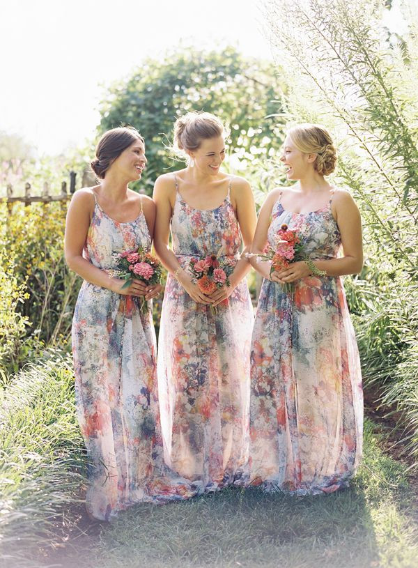 Beautiful floral bridesmaid dresses