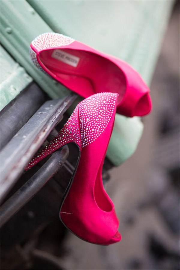 pairs of pink wedding shoes for your big day